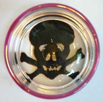 Pink Skull Glass Cup